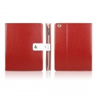 ENKAY ENK-3136 Crazy Horse Texture PU Leather Case for Ipad 2 / 4 / the New Ipad - Red