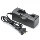 TangsFire 1 x 18650 Battery Charger w/ Reverse Connection Protection - Black (US Plug / 100~240V)