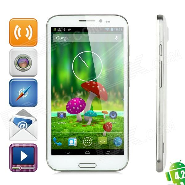 ZOPO ZP950+ Quad-Core Android 4.2 WCDMA Bar Phone w/ 5.7″ Screen, Wi-Fi and GPS – White