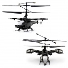 V7 Avatar 4-Channel 2.4GHz RC Helicopter w/ Gyroscope - Dark Grey + Black