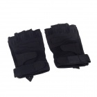 Stylish Outdoor Half-Finger Gloves - Black ( Size-M / Pair)