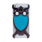 Fashionable Owl Style Protective Back Case for Iphone 5 - Blue + Black