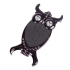 Fashionable Owl Style Protective Back Case for Iphone 5 - Deep Grey + Black