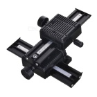 "4-Way 1/4"" Macro Focus Rail Slider - Black"