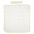 Cotton Embroidery Summer Blanket Quilt  for Baby - White + Beige