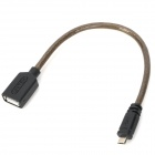 UNITEK Y-C438 A Female to Micro USB 5p Male OTG Cable - Dark Grey (20cm)