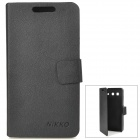 Protective PU Leather Flip Open Case for Huawei G520 - Black