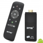 DITTER T5 Dual-Core Android 4.1 Mini PC Google TV Player w/ 1GB RAM / 8GB ROM / Air Mouse - Black
