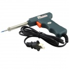 NL-108 40W 220V Gun Style Soldering Iron - Blue + Orange + Silver (2-Flat-Pin Plug)