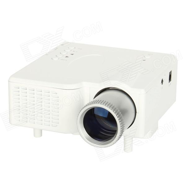 GP-1 18W DLP LED Multimedia Projector w/ Remote Controller / SD Card Slot - White