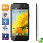 "POMP W89 Quad-Core 4.2 Android WCDMA Бар телефон ж / 4,6 ""IPS, 5.0MP, Wi-Fi, GPS - черный + белый"