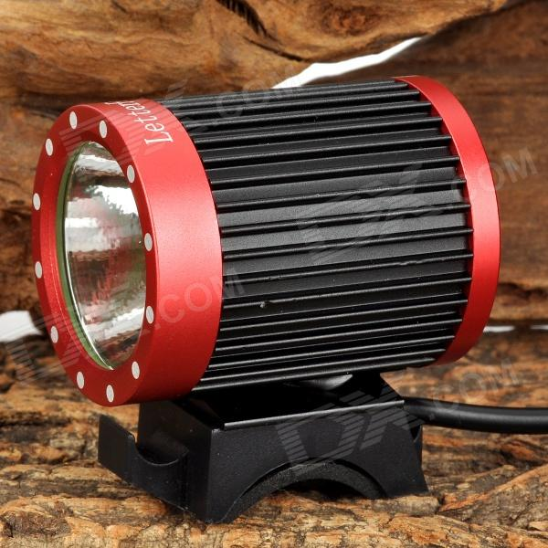 LetterFire LF-19 2A 400lm 4-Mode LED Bicycle Headlamp w/ 2 x CREE XML-T6 - Red + Black (4x18650 ) raysoon t383 600lm 3 mode white zooming bicycle headlamp w cree xm l t6 black blue 1 x 18650