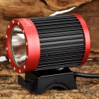 LetterFire LF-19 2 CREE XML-T6 2A 400lm 4-Mode LED Bicycle light Head lamp- Red + Black (4x18650 )