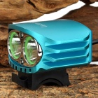 LetterFire LF-20 2 CREE XML-T6 1.8A 580lm 4-Mode LED Bicycle light Head lamp- Blue (4x18650 )