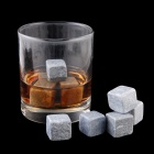 QZS-12 Ryan's Whiskey Stones Rocks Ice Cubes Soapstone Wine Bev Chillers - Grey (12 PCS)