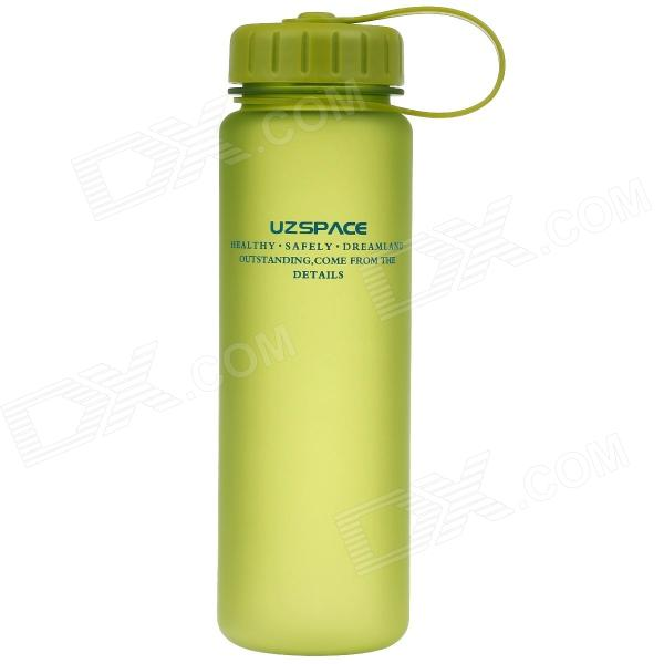 UZSPACE Leak-Proof Frosted Colorful Water Bottle w/ Filter Cover - Green (500mL)