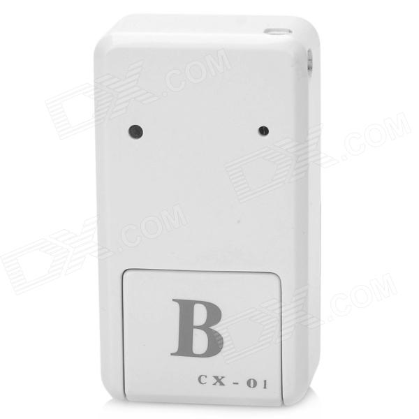 Cx-01 Mini Handheld Vibrating MMS SIRF3 GPRS / GSM Position Tracker / Alarm w/ Micro USB - White