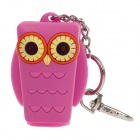 Owl Style Emulsion / Liquid Container Bottle Case w/ LED Light / Keychain - Deep Pink (1 x CR1632)