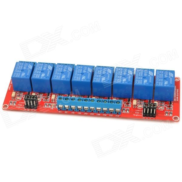 8-Channel 5V Relay Module W/ Optocoupler for Arduino - Red + Blue цена и фото