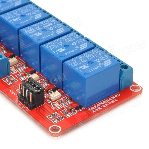 Channel v relay module w optocoupler for arduino red