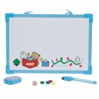 M&G ADB98301 Drawing Pen + Magnets + Cleaning Plate + Dice + Drawing Board Set - Blue + White