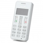 "ORICORE A9 1.0"" LCD Rechargeable Bluetooth V3.0 Dialer w/ Handsfree / Audio - White + Silver"