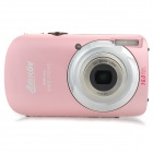 "Amkov DC110HS 3.0"" TFT 5.0MP CMOS 4X Digital Zoom Digital Camera w/ SD Slot / Micro USB - Pink"