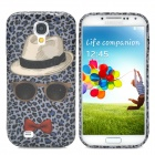 Fashion Leopard Hat Pattern Back Case for Samsung Galaxy S4 i9500 -
