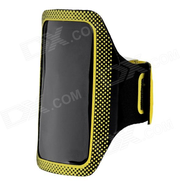 цена на Velcro Sports Armband for Samsung I9190 (Galaxy S4 mini) - Yellow + Black