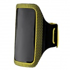Velcro Sports Armband for Samsung I9190 (Galaxy S4 mini) - Yellow + Black