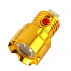TQ-F101 USB Power 1W 190lm 6500K 3 Mode White Light Flashlight Head - Golden (3.7~6.0V)