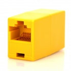 RJ45 End-to-End Cable Ethernet Connector - Amarillo (10 PCS)