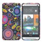 Fashion Jellyfish Pattern Silicone Back Case for HTC One M7 - Multicolored