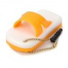 Cute Silicone Slipper Pendant Style Anti-Dust 3.5mm Audio Plug - Yellow