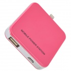 External 2200mAh Power Battery Charger w/ 8-Pin Lightning for iPhone 5 / iPod Touch 5 - Deep Pink