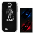 Lovers Style Protective Back Case w/ Caller Signal Flashing LED for Samsung Galaxy S4 i9500 - Black