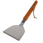Stainless Steel + Wood Cooking Shovel - Silver + Brown