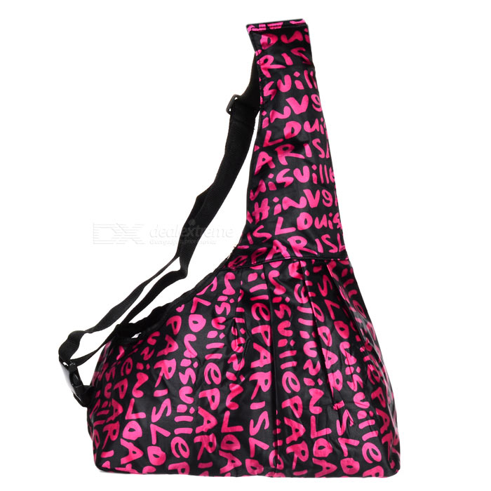 Oxford Fabric Pet Carrying Sling Bag for Dog / Cat - White + Black pet carrier bag for cat dog medium size brown
