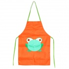 Cartoon Frosch Pattern Waterproof Schürze für Kinder Malerei - Orange