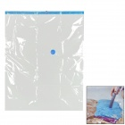 Thicken Vacuum Seal Storage Bag - Transparent + Blue (100 x 80cm)