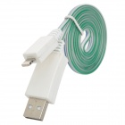 USB Male to 8 Pin Lightning Male 3-Mode LED Cold Blue Light Charging + Data Cable (100cm)