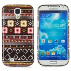 Tribal Fabric Pattern Protective Silicone Case for Samsung Galaxy S4 i9500