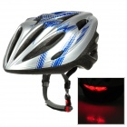 B03 Outdoor Bicycle Cycling EPS Helmet w/2-Mode Lamp - Silver + Blue