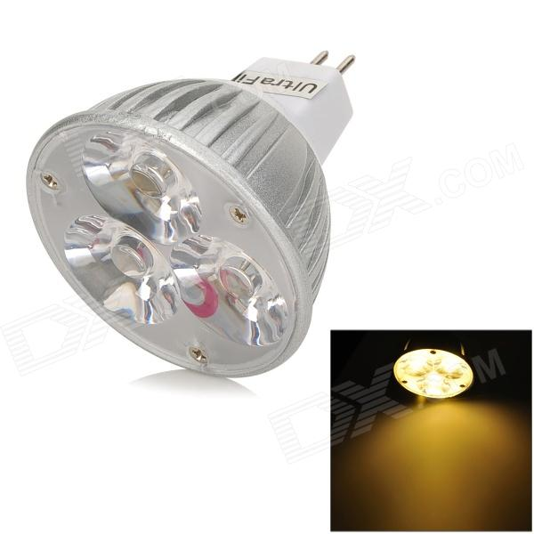 UltraFire GX5.3 MR16 3W 180lm 3200K 3-LED Warm White Spotlight - White + Silver gx h6b r sensor mr li