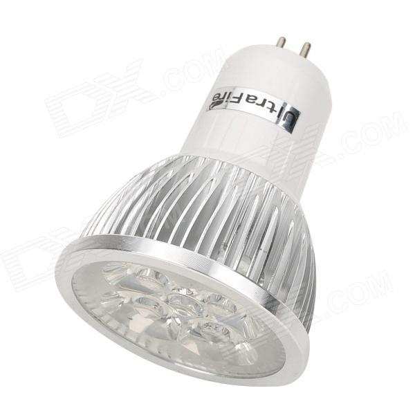 UItraFire 4w 280lm 6500k 4 LEDs White Light G5.3 MR16 Spotlight - White + Silver