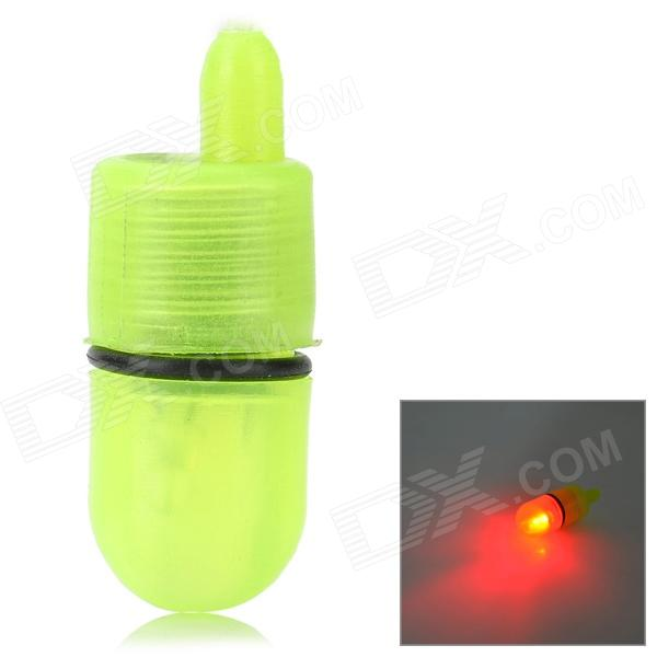YSO407 Handy Highlight Red Alarm Warning Fishing Lamp - Translucent Yellow (2 x LR41)