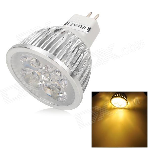 UltraFire 4w 280lm 3200k 4 LEDs Warm White GU5.3 MR16 Spotlight - White + Silver