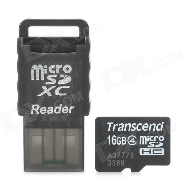 Transcend Class 4 16GB Micro SD / TF Card w/ Card Reader