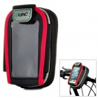HB-58 Protective Polyester + PVC Case w/ Holder + Cover for Touch Screen Cellphones - Black + Red