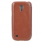 Pudini LXI9190M Suojaava PU Leather Flip - Open Case for Samsung Galaxy S4 Mini / i9190 - Ruskea